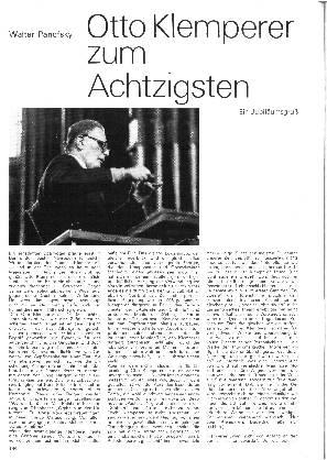 Otto Klemperer zum Achtzigsten