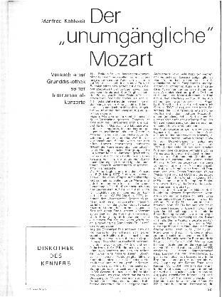 Der unumgängliche Mozart