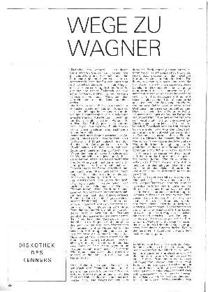 Wege zu Wagner