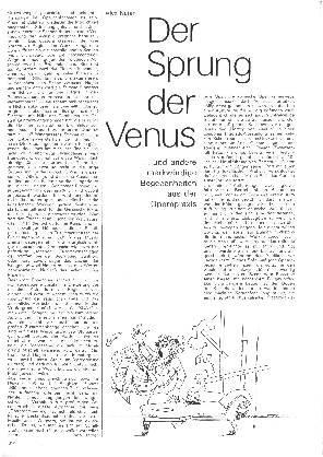 Der Sprung der Venus