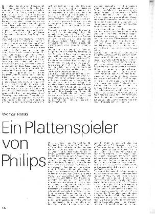 Ein Plattenspieler von Philips