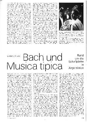 Bach und Musica tipica