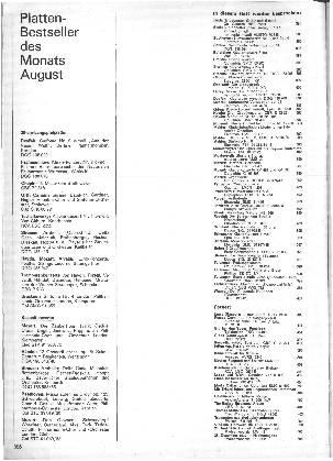 Plattenbestseller des Monats August
