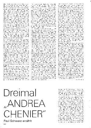 Dreimal Andrea Chenier