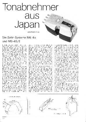 Tonabnehmer aus Japan