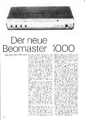Der neue Beomaster 1000