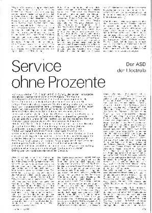 Service ohne Prozente