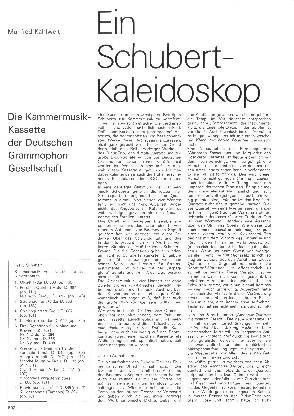 Ein Schubert-Kaleidoskop