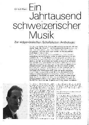 Ein Jahrtausend schweizerischer Musik