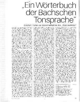 Ein Wörterbuch der Bachschen Tonsprache