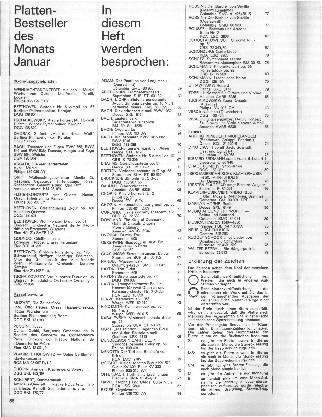 Plattenbestseller des Monats Januar