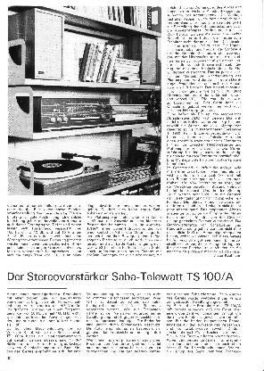 Der Stereoverstärker Saba-Telewatt TS 100/A