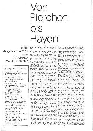 Von Pierchon bis Haydn