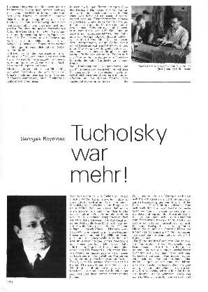 Tucholsky war mehr!