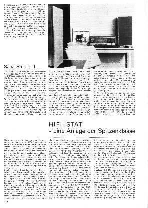 HiFi-Stat - eine Anlage der Spitzenklasse