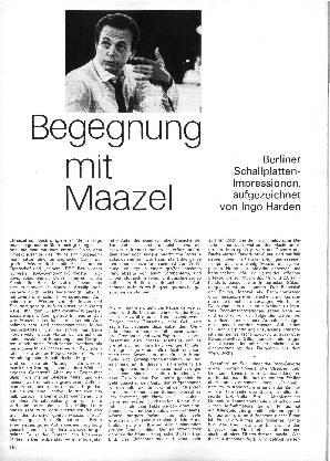 Begegnung mit Maazel