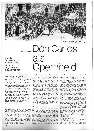 Don Carlos als Opernheld