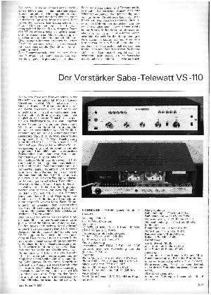 Der Verstärker Saba-Telewatt VS-110
