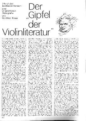 Der Gipfel der Violinliteratur