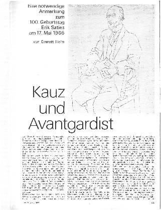 Kauz und Avantgardist