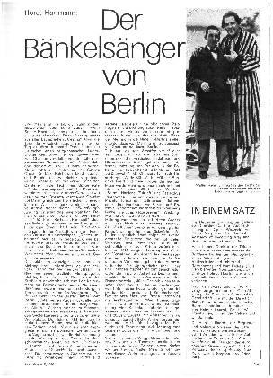 Der Bänkelsänger von Berlin