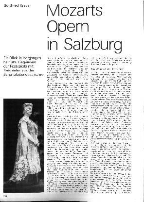 Mozarts Opern in Salzburg
