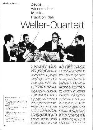Zeuge wienerischer Musik-Tradition, das Weller Quartett