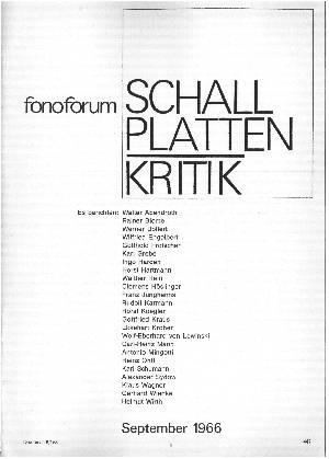 fonoforum Schallplattenkritik
