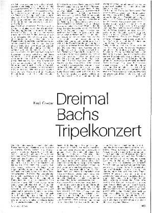 Dreimal Bachs Tripelkonzert