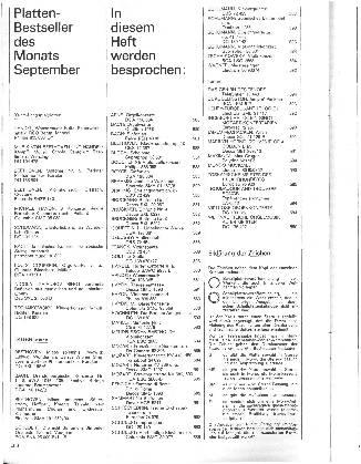 Plattenbestseller des Monats September
