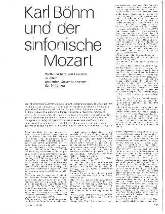 Karl Böhm und der sinfonische Mozart