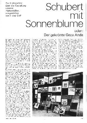 Schubert mit Sonnenblume oder: Der gekrönte Geza Anda