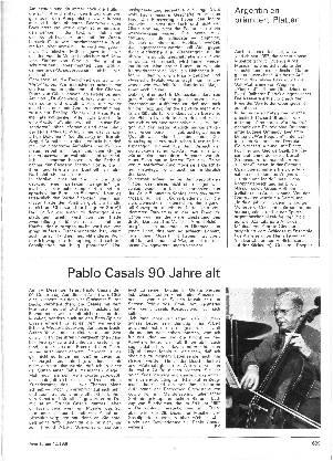 Pablo Casals 90 Jahre alt
