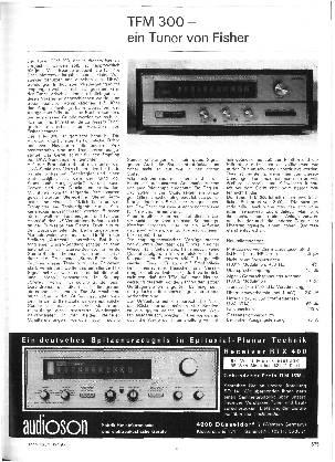 TFM 300 - ein Tuner von Fisher