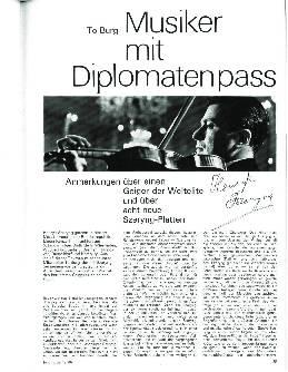 Musiker mit Diplomatenpass