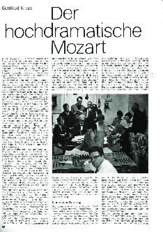 Der hochdramatische Mozart