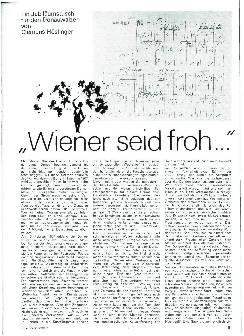 Wiener seid froh...