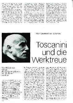 Toscanini und die Werktreue