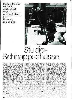 Studio-Schnappschüsse