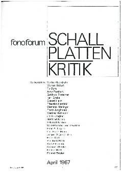 Schallplattenkritik