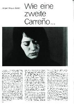 Wie eine zweite Carreño..