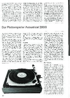 Der Plattenspieler Acoustical 2800