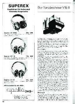 Der Tonabnehmer V15 II - das neue Spitzenmodell von Shure