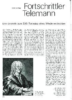 Fortschrittler Telemann