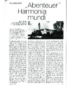 Abenteuer Harmonia mundi