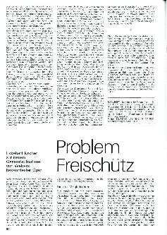 Problem Freischütz