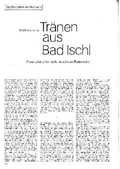 Tränen aus Bad Ischl