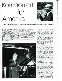 Komponiert für Amerika