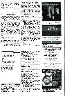 Neuheiten im Repertoire