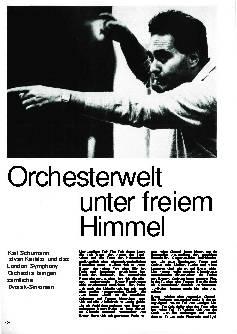 Orchesterwelt unter freiem Himmel